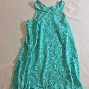 Teal pool coverup